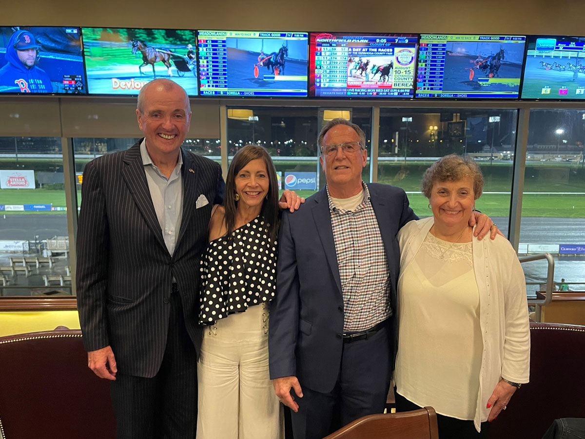 Governor Murphy attends the Meadowlands Pace